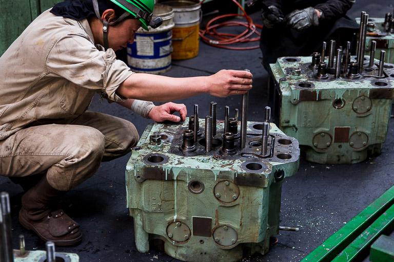 エンジンの検査
