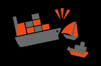 海難事故の救助と事故船舶のけん引