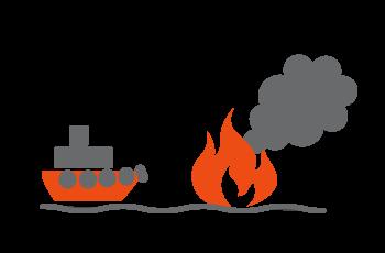 海上火災の消火